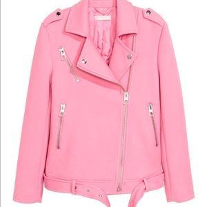 H&M Light Pink Moto Biker Jacket